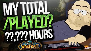 World of Warcraft has been released for approx. 4,503 days, that's around 12.5 years. Having played since the EU release just how many days/hours total have I spent playing this game and just how much % of my life has been spent in-game! INTERACT WITH ME!Livestream► http://www.twitch.tv/scoTwitter► https://twitter.com/MethodscoInstagram► http://instagram.com/methodscoFacebook► https://www.facebook.com/methodscoSnapchat► methodscoCurse► https://www.curse.com/sco