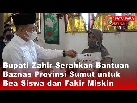 Bupati Zahir Serahkan Bantuan Baznas Provinsi Sumut untuk Bea Siswa dan Fakir Miskin