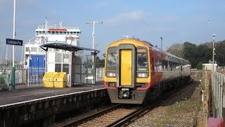 Brockenhurst United Kingdom  city photos : UK: Brockenhurst to Lymington Pier branch line, SWT Class 158 diesel unit