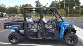 7. New 2016 Polaris® RANGER Crew® XP 900-6 EPS Velocity Blue For Sale in St. Petersburg, Florida
