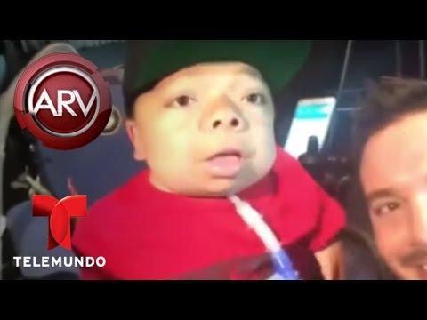 J Balvin canta canción de cuna y Farruko se lanza de las alturas | Al Rojo Vivo | Telemundo