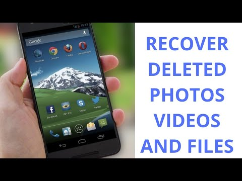 #How to #recover #deleted#photos,videos and files on your Android phone|#restore your deleted data