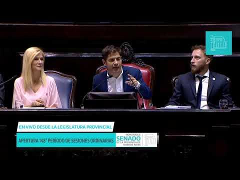 Mirá en vivo el discurso de Kicillof en la apertura de sesiones en la Legislatura Bonaerense