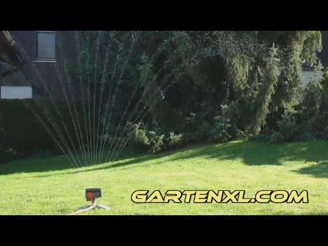 Gardena Viereckregner ZoomMaxx 8127-20 - Rasensprenger Test - Gartentest Viereckregner