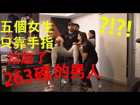超神!│五個女生只靠手指抬起了263磅的男人?