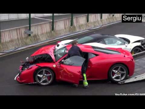 Ferrari Wreck  photos