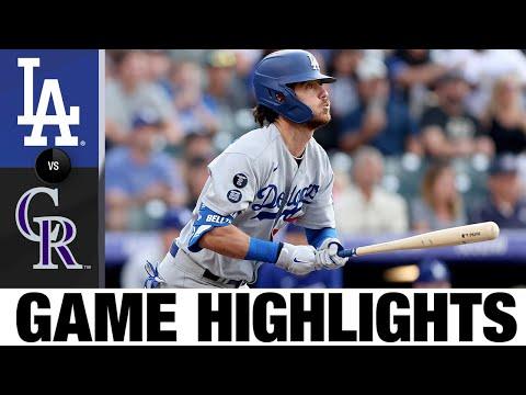 Dodgers vs. Rockies Game Highlights (7/16/21)   MLB Highlights