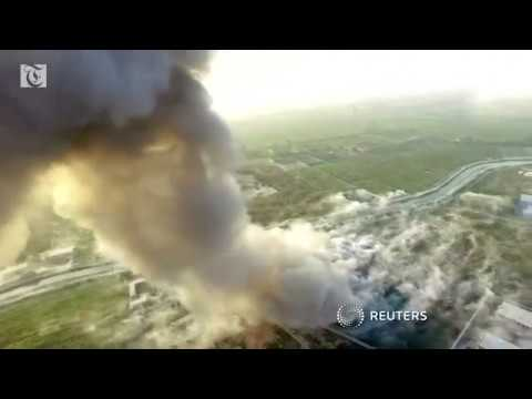Drone footage of Afghan suicide attack released by Taliban