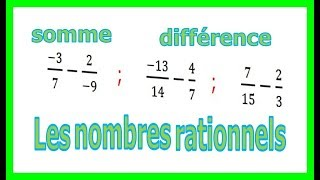 Maths 4ème - Les nombres rationnels Somme et Différence Exercice 17