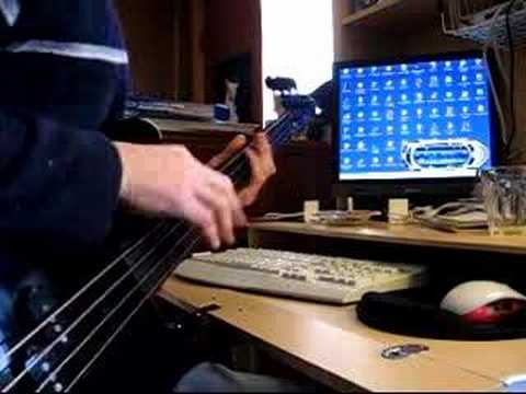 FRETLESS FENDER JAZZ BASS AFRICAN DRUM  EXPERIMENT