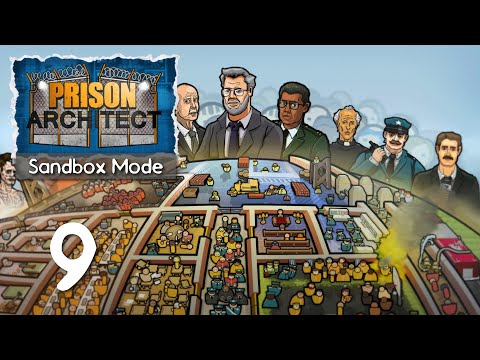 Ep 9 - Our first riot (Prison Architect sandbox mode gameplay)