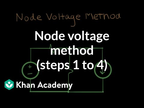 Node Voltage Method Steps 1 To 4 Video Khan Academy