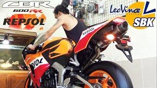 10. For Sale..MOGE Honda CBR600 REPSOL 2014 Exhaust Leo'vince SBK Carbon Titanium 99%(istimewa)