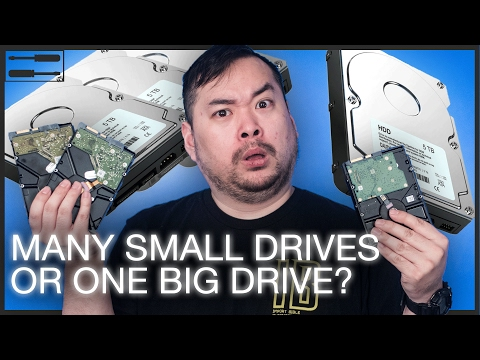 Should you use multiple hard drives, or 1 BIG one?