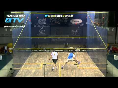 Squash : Monster Rally – Karim Darwish v Mohamed El Shorbagy :PSA El Gouna Squash 2012 QF