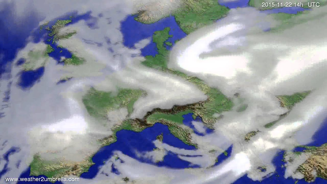 Cloud forecast Europe 2015-11-18