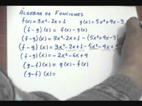 Diferencia de funciones