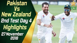 Video Pakistan Vs New Zealand | Highlights | 2nd Test Day 4 | 27 November 2018 | PCB MP3, 3GP, MP4, WEBM, AVI, FLV April 2019