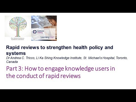 How to engage knowledge users in the conduct of rapid reviews