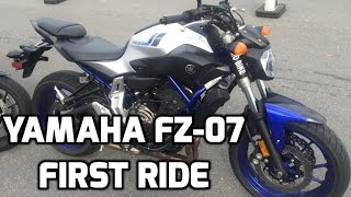 8. 2016 Yamaha FZ-07 First Ride and Reaction