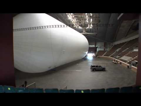 World's Largest Airship Inflated