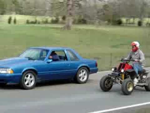 Banshee races a Mustang