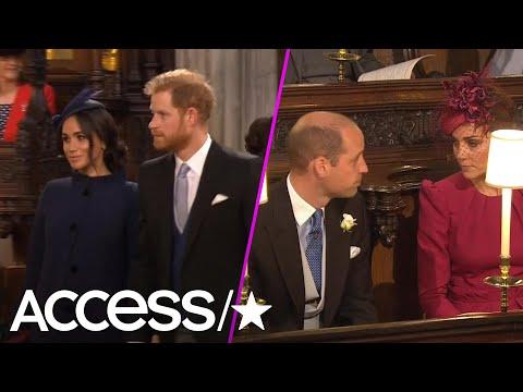 Prince Harry, Meghan Markle, Kate Middleton & Prince William Arrive At Princess Eugenie's Wedding