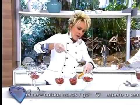 Mais Você   receitas   Brigadeiro de Copo    Ana Maria Braga