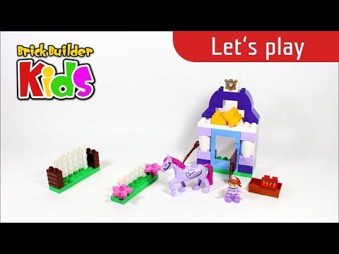 Vidéo LEGO Duplo 10594 : L'écurie Royale de la Princesse Sofia