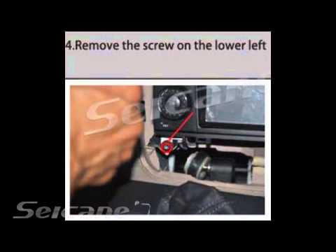 How to remove install stereo for Mercedes W169 W245 Viano Vito Sprinter W906 navigation