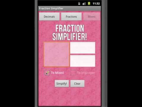Video of Fraction Simplifier!