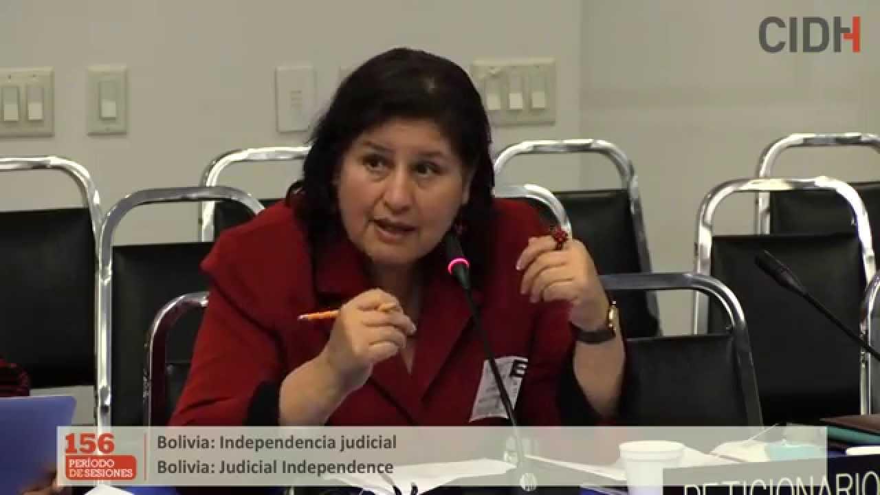 Situaci�n de la independencia judicial en Bolivia