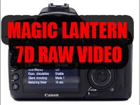 INSTALL MAGIC LANTERN CANON 7D VIDEO RAW TUTORIAL IN ITALIANO!!!!