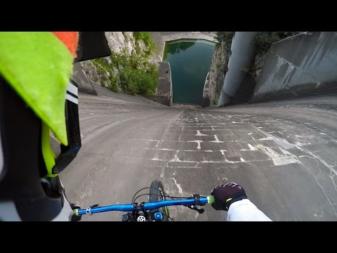 This is What Biking Down a Dam Wall Feels Like