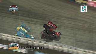 Knoxville Raceway 360 Highlights May 21, 2016