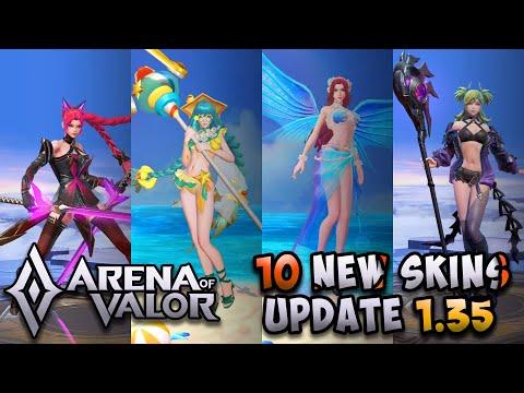 10 NEW SKINS: (ANNETTE, LAURIEL, DIAOCHAN & MORE) | Arena of Valor | AoV | RoV | LiênQuânMobile