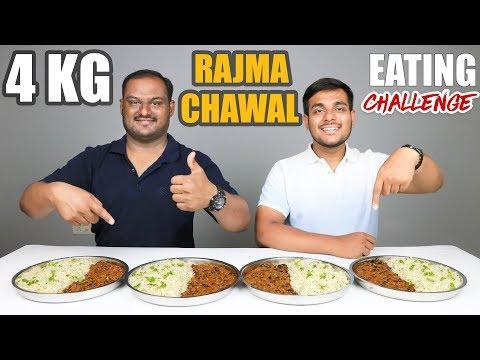 4 KG RAJMA CHAWAL EATING CHALLENGE | Rajma Rice Eating Competition | Food Challenge