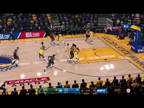 NBA LIVE 19 New Patch 1.13 - Milwaukee Bucks vs Golden State Warriors - PS4 PRO Full Game - HD