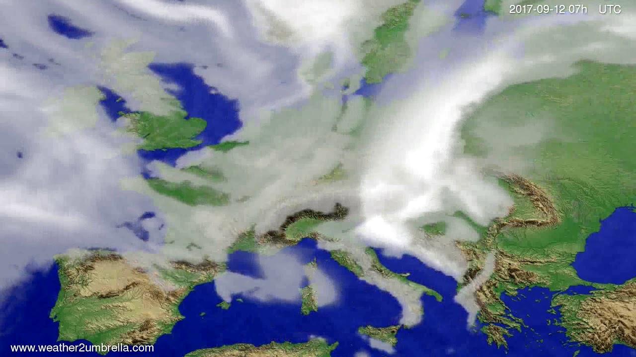 Cloud forecast Europe 2017-09-08