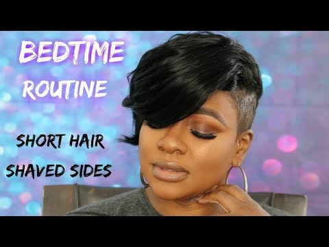 Short haircuts - SHORT HAIR SHAVED SIDES NIGHT  ROUTINE