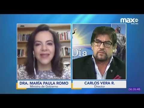 Entrevista a María Paula Romo, ministra de Gobierno, en MaxTV Online