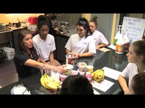 LSU Gymnasts Get a Nutritional Pep Talk