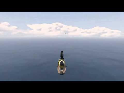 gta: volare con una moto ed atterrare dentro ad un aereo!