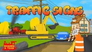 Help Shawn The Train teach the car about traffic signs!