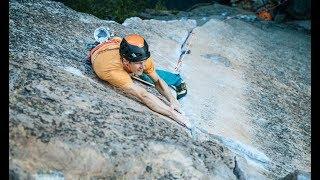 Jorg Verhoeven and Katharina Saurwein climbing in Yosemite by La Sportiva
