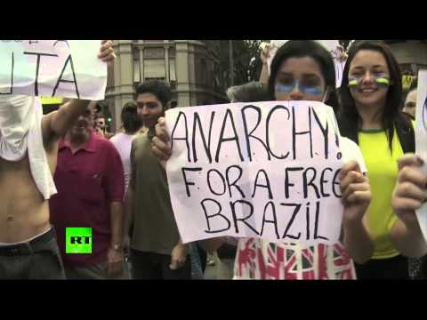 country - Mass protests continued throughout Brazil on Monday, with hundreds of thousands of demonstrators converging in Sao Paulo, Rio de Janeiro, Belo Horizonte, the...