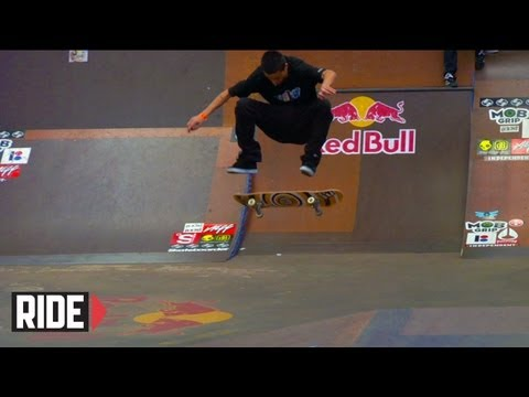 Tony Manfre - Top skateboarders showcase their skills in five qualifying heats at Tampa Pro 2010. Featuring: Ryan Sheckler, Ryan Decenzo, Tony Manfre, Grant Taylor, Justin...