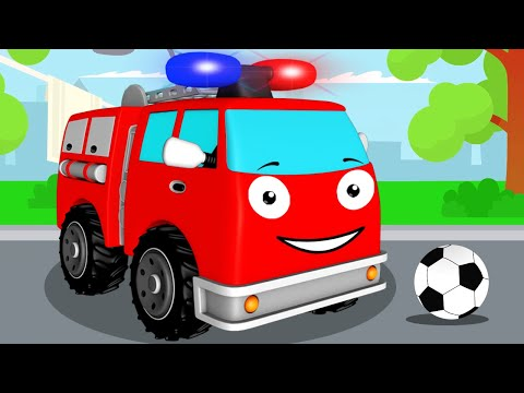 Fire Truck With Train, Monster Trucks, Police Cars | Emergency Vehicles Cartoon For Kids