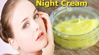अब घर पर बनाये रंग गोरा करने वाली नाईट क्रीम/ Homemade Night Cream for Face Whitening