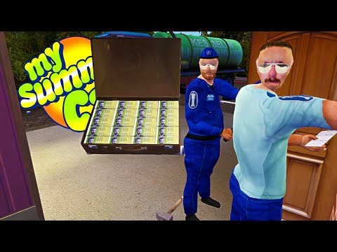 MY SUMMER MILLIONAIRE! SUITCASE FOUND   POLICE PROTECTION! - My Summer Car Gameplay Highlights Ep 75